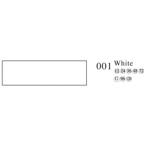 Пастель профессиональная сухая полутвёрдая MUNGYO № 001 белый