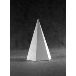 Пирамида 6-гранная гипсовая, высота 20 см