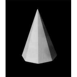 Пирамида 8-гранная гипсовая, высота 20 см