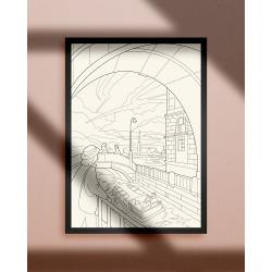 """Раскраска """"Эрмитажный мост"""", А3"""