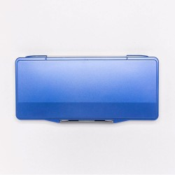 Палитра для акварели профессиональная герметичная Малевичъ, 18 ячеек, синяя, 12,5х27,5 см