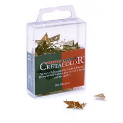 Треугольные кнопки Cretacolor, 100 шт. в пластмассовой коробке