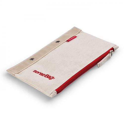 Пенал текстильный senseBag 21х12.5см плоский кремовый
