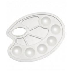 Палитра пластиковая ,круглая, 23.5X17см,10 ячеек