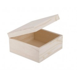 Сонет Шкатулка деревянная 150х150х80 мм, сосна