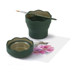 Стакан для воды Faber Castell Click&Go темно-зеленый