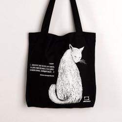 Сумка-шоппер Малевичъ черная с котом