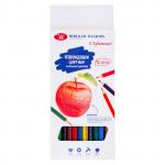 Набор цветных шестигранных карандашей, 12 цветов, картон