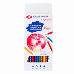 Набор акварельных шестигранных карандашей, 18 цветов, картон
