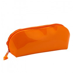 Пенал-косметичка полукруглый на молнии с блестками «Я - Художник!», оранжевый