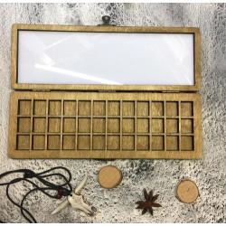 Деревянный пенал на 48 кювет Handy