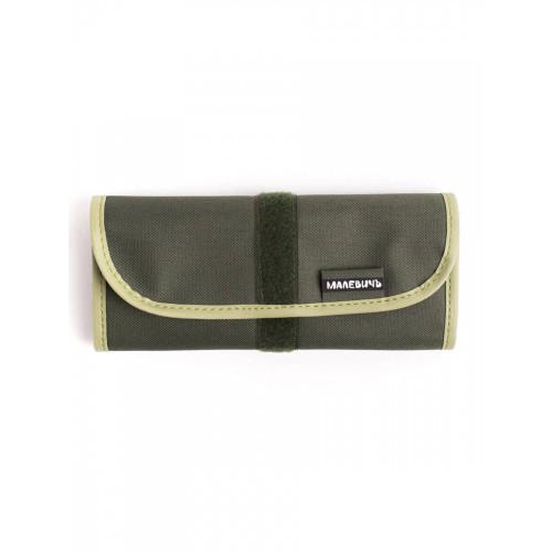 Скрутка для карандашей и ручек Малевичъ, 36х21 см, оливковая