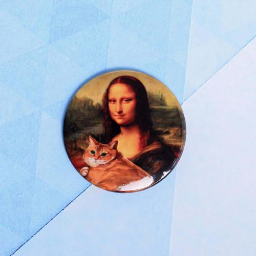 """Значок """"Мона Лиза"""", 56 мм"""