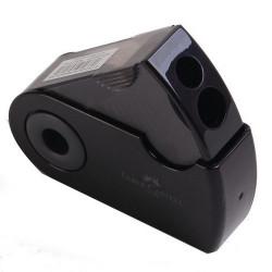 Точилка Faber-Castell Sleeve (2 отверстия с контейнером) черная