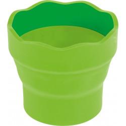 Стакан для воды Faber Castell Click&Go складной, светло-зеленый