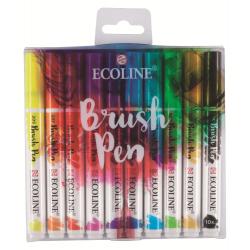 Набор акварельных маркеров Ecoline Brush Pen Основные 10 штук в пластиковой упаковке