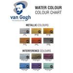 """Набор акварельных красок Van Gogh """"Specialty"""" 12 кювет (интерферентные и металлики) + кисть пластиковый короб"""