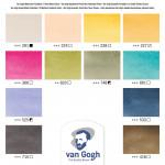 """Набор акварельных красок Van Gogh """"Muted Colours"""" (приглушенные цвета) 12 кювет + кисть пластиковый короб"""