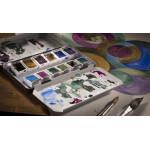 Набор акварельных красок Rembrandt Granulating 12 кювет металлический короб (гранулированные)