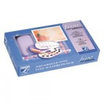 Набор акварели FINE 14 цв кювета + кисть и губка в пластиковой коробке