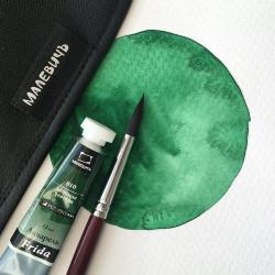 Акварель Малевичъ «Frida», зеленая темная 12 мл