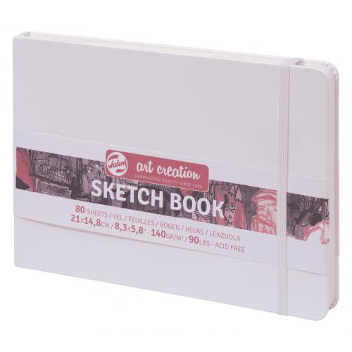 Блокнот для зарисовок Art Creation 140 г/кв 21*14,8 см 80 л. твердая обложка белый, пейзаж
