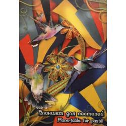 Планшет для пастели «Калейдоскоп», А4, 4 цвета, 20 л