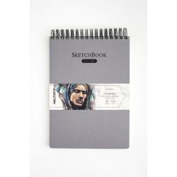 Скетчбук Малевичъ для графики GrafArt, серый, 150 г/м, 21x29 см, 80л