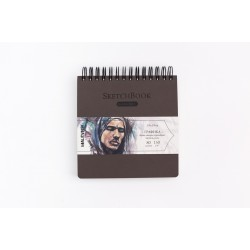 Скетчбук Малевичъ для графики GrafArt, коричневый, 150 г/м, 19x19 см, 80л