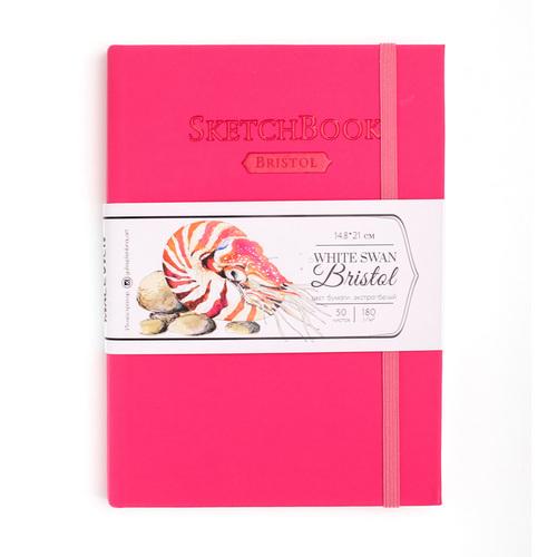 Скетчбук Малевичъ для графики и маркеров Bristol Touch, розовый, 180 г/м, А5, 50л