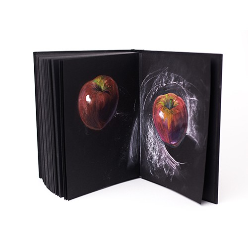 Бумага для сухих техник GrafArt black Малевичъ, 150 г/м, А3