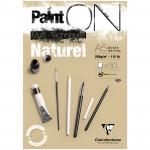 Альбом для смешанных техник Clairefontaine PAINT ON Naturel, 250г/м2, 30л, А5, крафт