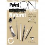 Альбом для смешанных техник Clairefontaine PAINT ON Naturel, 250г/м2, 30л, А4, крафт
