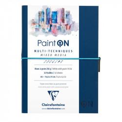 Скетчбук для смешанных техник Clairefontaine Paint ON, 250г/м2, 32л, А5, легкое зерно, синий