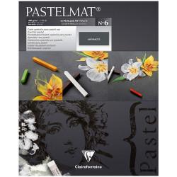 """Альбом для пастели 12л. 24*30 см Clairefontaine """"Pastelmat"""", 360г/м2, бархат, антрацит"""