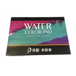 Склейка Dwurer Watercolor Pad, 20 листов, формат 270 x 195 mm, бумага 180 г/м