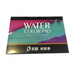 Склейка Dwurer Watercolor Pad, 20 листов, формат 390 x 270 mm, бумага 180 г/м