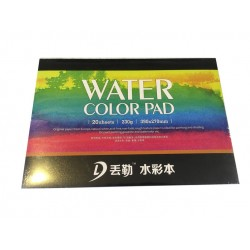 Склейка Dwurer Watercolor Pad, 20 листов, формат 390 x 270 mm, бумага 230 г/м