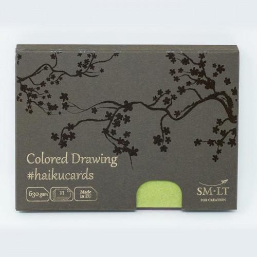 Набор открыток для смешанных техник Colored Drawing Haikucards, 630 г/м2, 147х106 мм, 11 шт