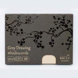 Набор открыток Grey Haikucards, 325 г/м2, 147х106 мм, 22 шт