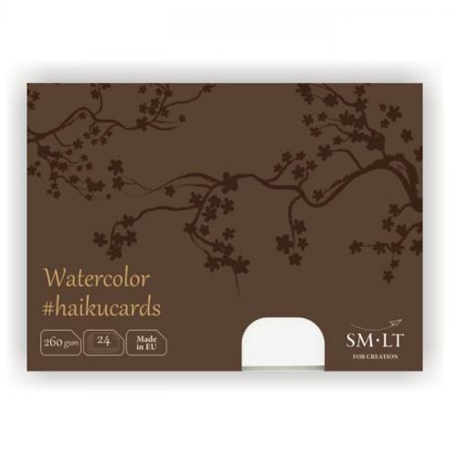 Набор акварельных открыток Watercolor Haicucards, 260 г/м2, 147х106 мм, 24шт