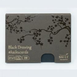 Набор открыток Black Haicucards, 300 г/м2, 147х106 мм, 24 шт