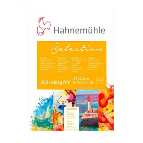 """Hahnemuhle Альбом-склейка для акварели """"Aquarell Selection 12"""", 17х24 см, 12 л, ассорти"""
