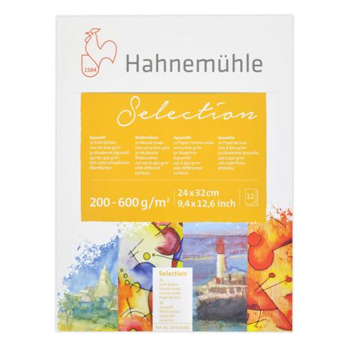 """Hahnemuhle Альбом-склейка для акварели """"Aquarell Selection 12"""", 24х32 см, 12 л, ассорти"""