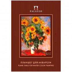 Планшет для акварели с «К.Моне. Цветы» А4 с хлопком , 20 листов