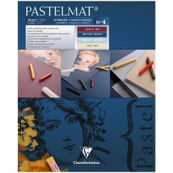 """Альбом для пастели 12л. 240*300мм на склейке Clairefontaine """"Pastelmat"""", 360г/м2, бархат, цв.блок"""