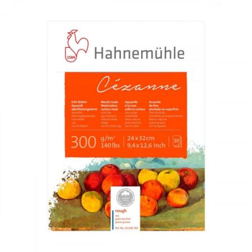 "Hahnemuhle Альбом-склейка для акварели ""Cezanne"", 300 г/м2 , 24х32 см, хлопок 100%, крупное зерно, 10 л."