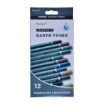 Набор акварельных карандашей 12 цветов, картон