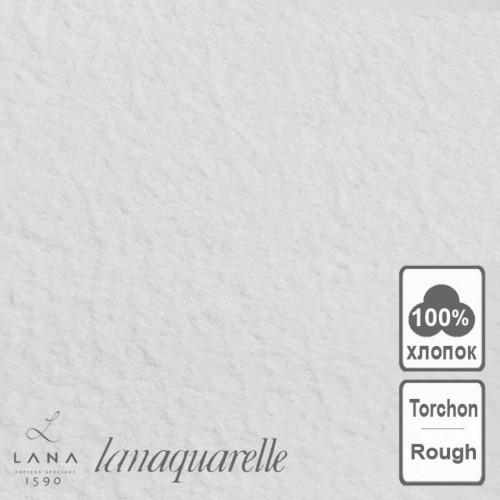 "LANA Бумага для акварели ""Lanaquarelle"", 300 г/м², 56х76 см, хлопок 100%, торшон"