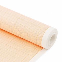 Бумага масштабно-координатная (миллиметровая) в рулоне, 640 мм х 10 м, 80 г/м2, оранжевый